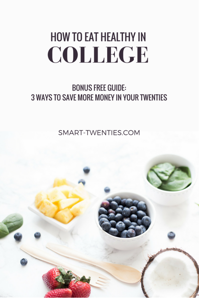 Want to eat healthy in college? Need tips and advice on how to save money in your twenties? This is a must-read blog post with advice for all twenty-something students on how to create an inexpensive healthy daily habit!