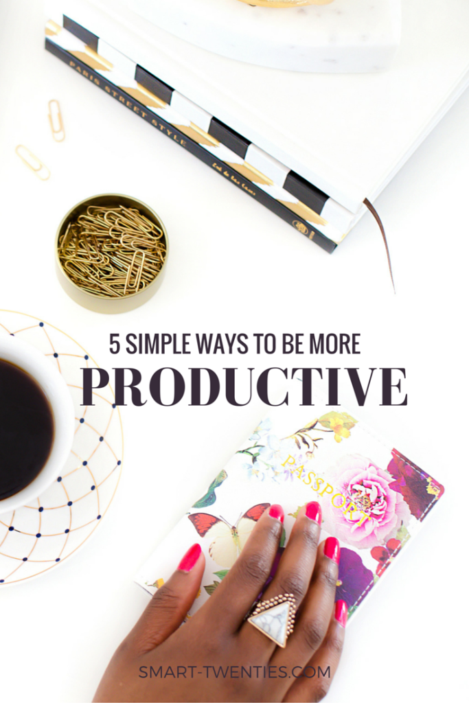 Here are 5 simple ways to set yourself up for a productive day so you can achieve your goals and live your dreams.