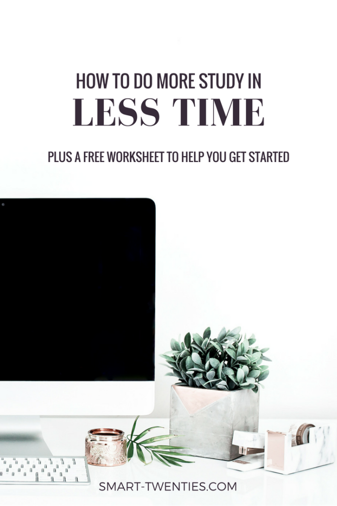 Study tips for twenty-something college students who don't have enough time to study! Find out how to get better grades by spending less time studying. Great life advice to help millennials get organised for college!