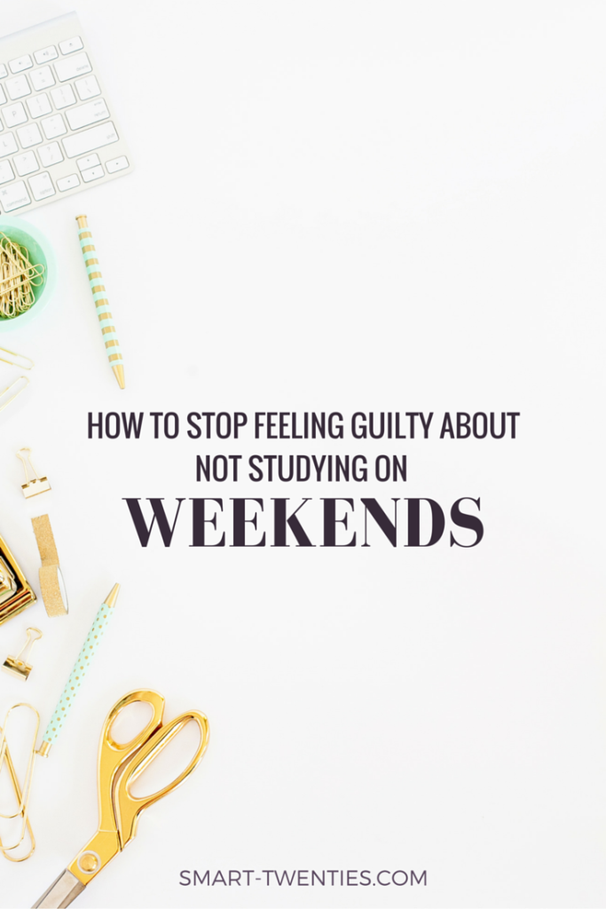 You don't have to feel guilty about not studying on weekends. Find out why I stopped studying on weekends and how it can actually help your grades.