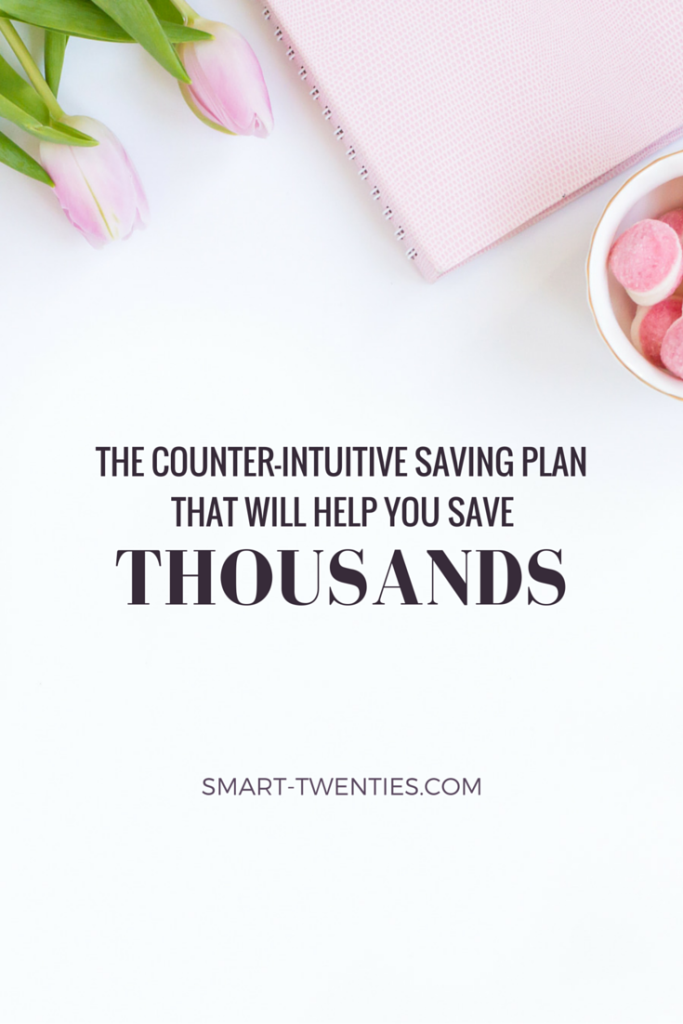 Struggling to save money? Here's a look at my counter-intuitive saving plan and how it will help you save money like never before.