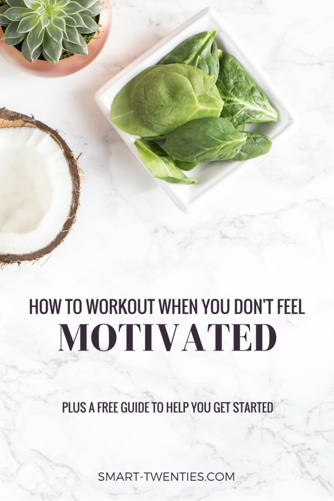 Can't stay motivated to workout or exercise? Find out how to stick to a daily habit like exercise or healthy eating without motivation. Must-read life advice for twenty-somethings and millennials!