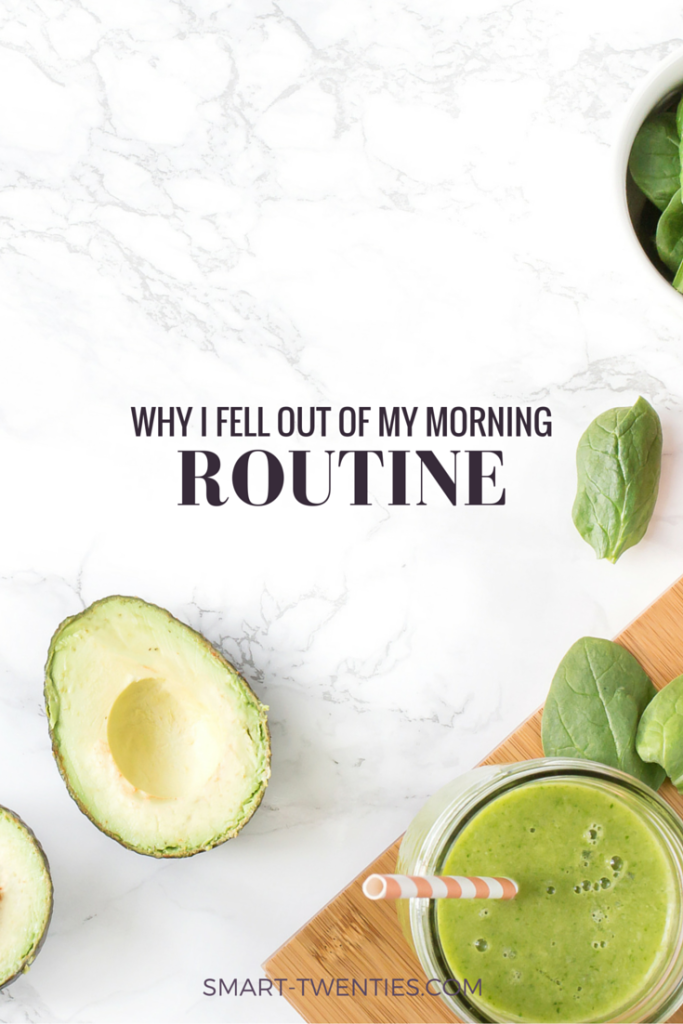 Have you ever fallen out of a morning routine? Yeah, so have I. Find out why that's ok and how to get started again.