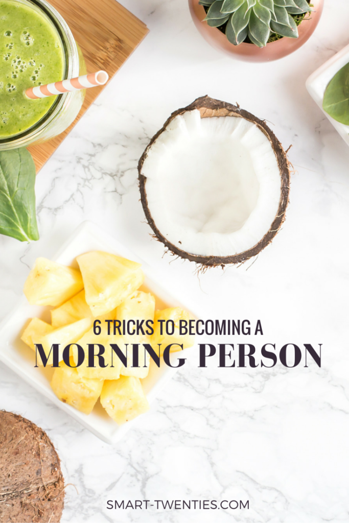 I share 6 simple tricks to start becoming a morning person, even if you love hitting snooze!