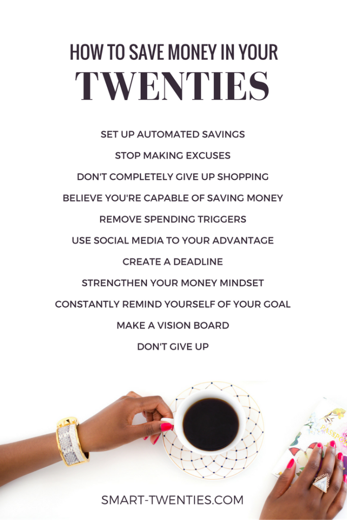 Find out how to save money in your twenties. Use these tips to save money for travel, no budget necessary!