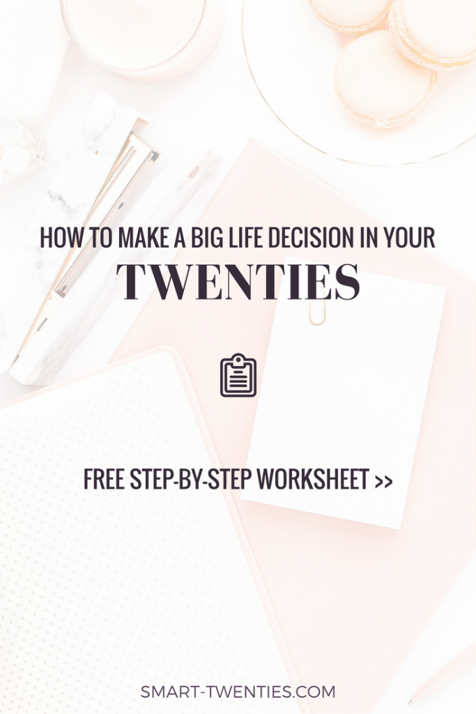 Facing a difficult life decision? Can't decide whether to quit your job? Get my free step-by-step worksheet to figure out what to do!