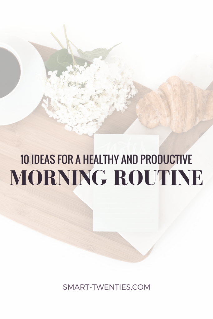 Here are 10 simple, healthy ideas to create a perfect morning routine! Put these together to create a morning routine that will make you feel organised and productive using my free guide!