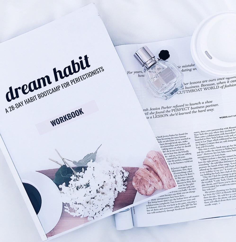 Dream Habit: A 28-Day Habit Bootcamp For Perfectionists. Find out more about my online course if you want to feel motivated, productive and organised!