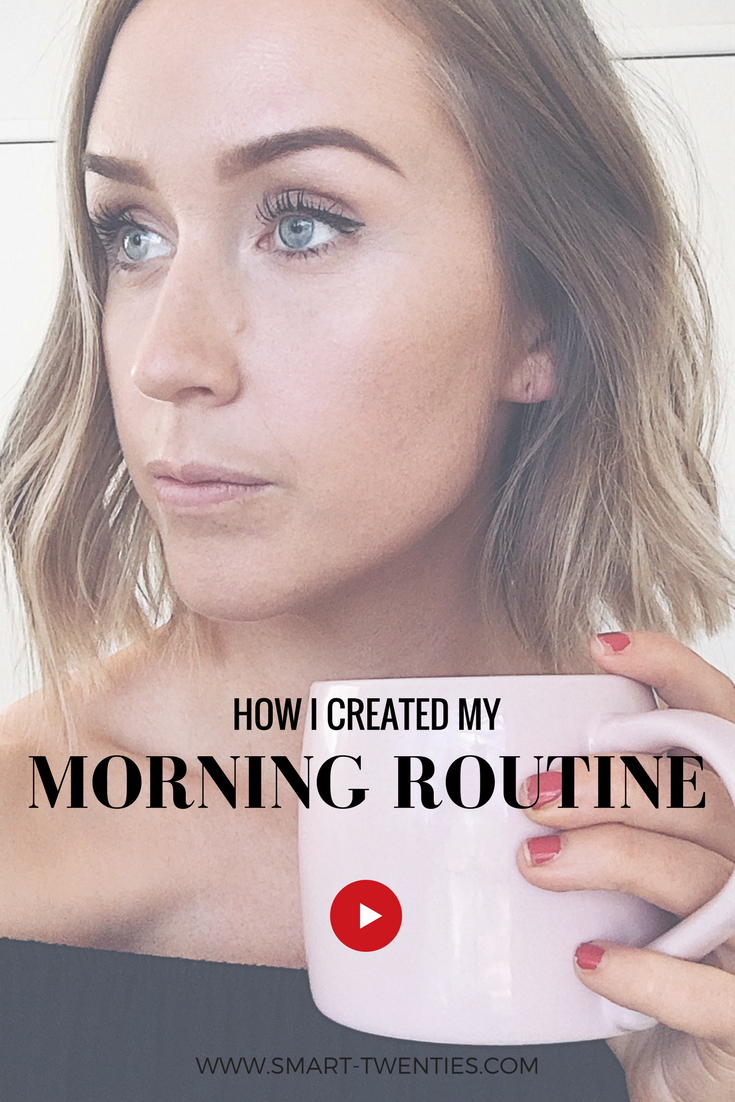 Advice to help you create a morning routine to get you feeling productive, motivated and organised and a free printable ultimate morning routine guide to help you do it. A must-watch for anyone women in her twenties.