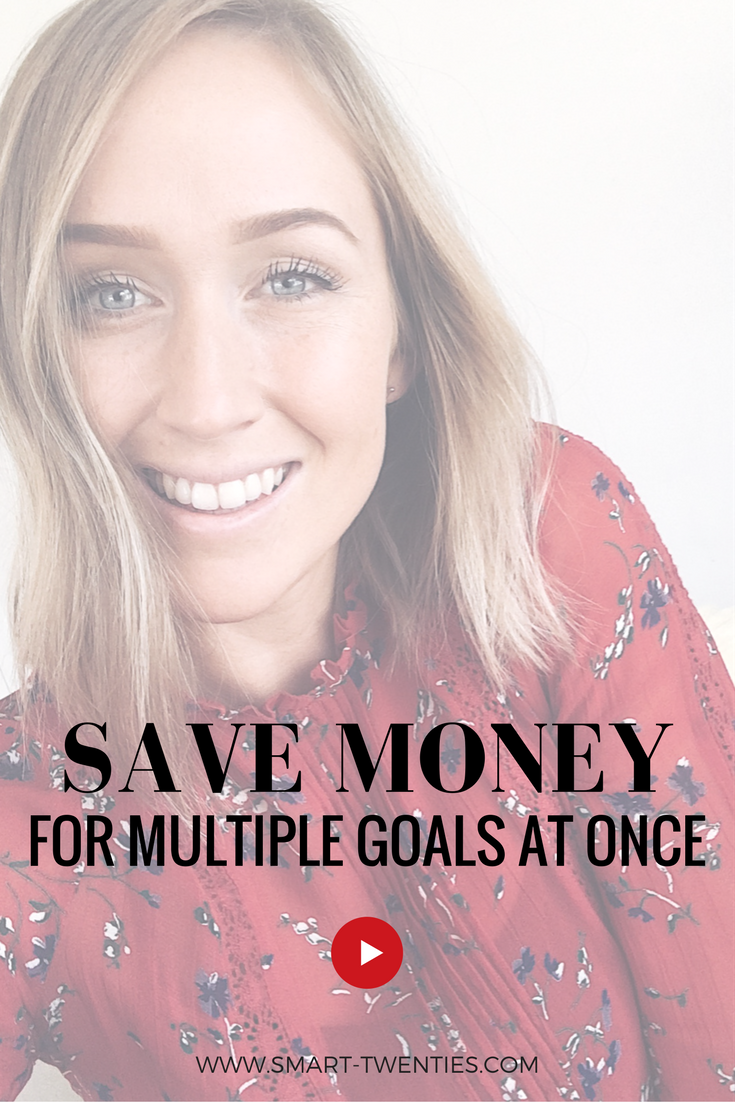 Tips and advice to save money to achieve multiple saving goals at the same time. Must-read advice for millennial women in their twenties
