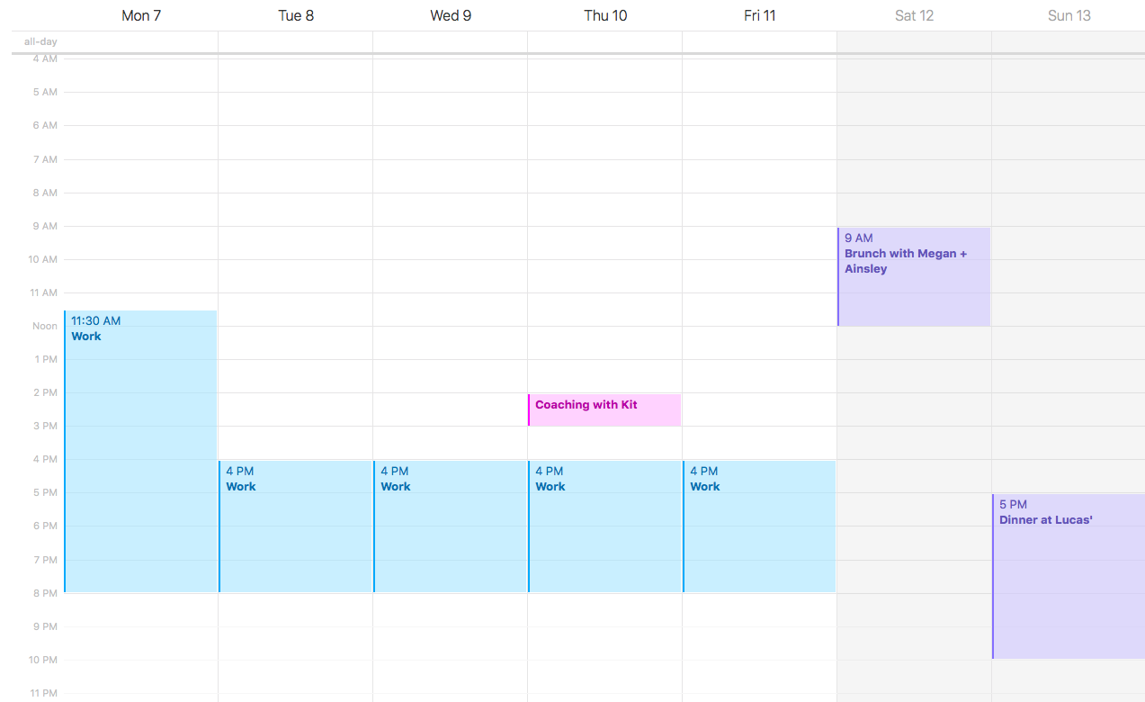 Calendar - Step 1