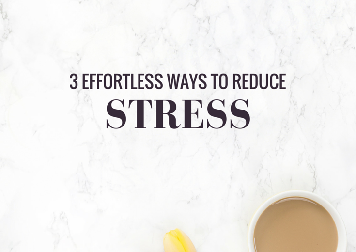 Here are my 3 favourite ways to de-stress. They're all super easy to add into your daily routine (and they're all free!)