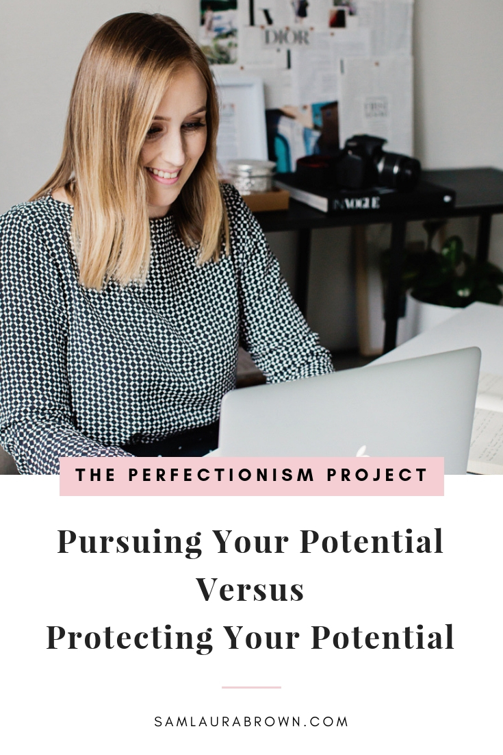 Learn the difference between pursuing your potential and protecting it, and discover practical things to do if you've been holding yourself back.