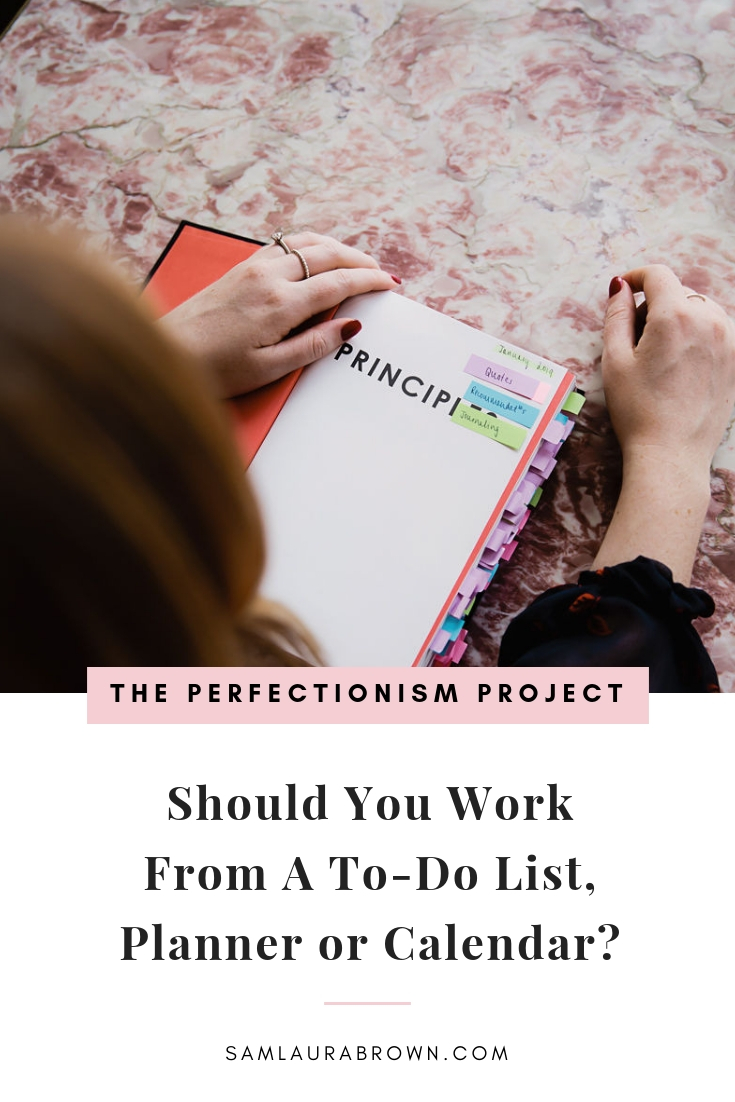 Perfectionists have a habit of making plans they can't follow, so in this episode I'm sharing exactly how I plan my week and my advice on whether you should work from a to-do list, planner or calendar. If you want to be more productive, be sure to tune in!