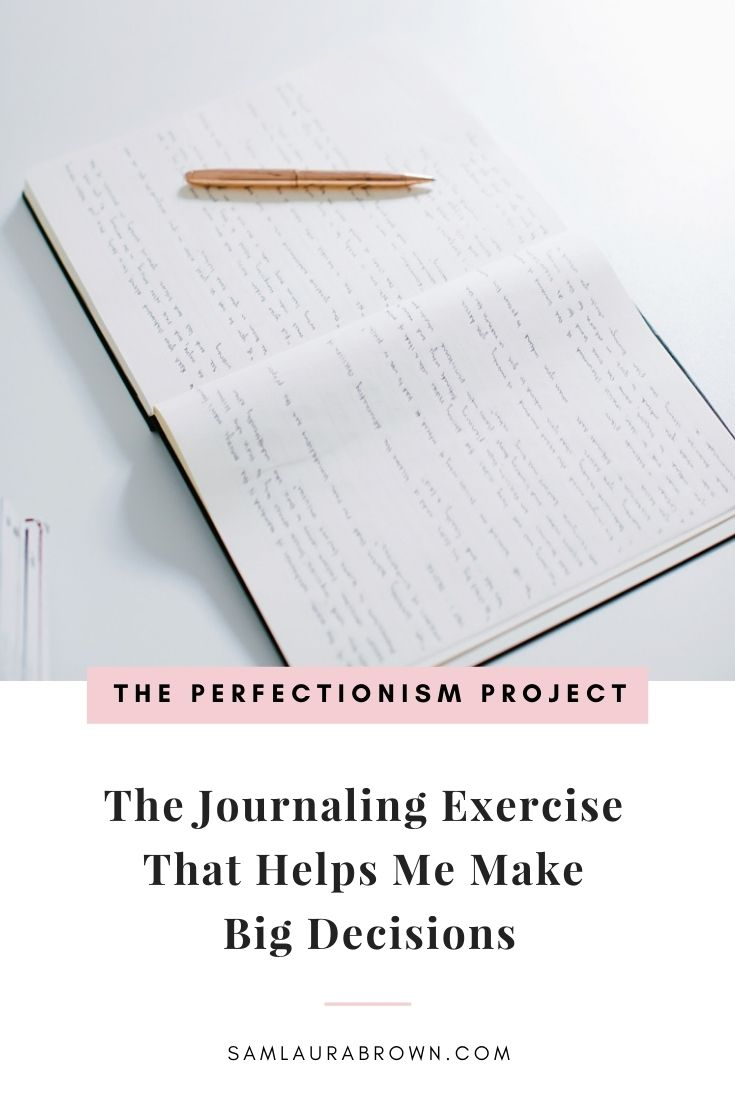 Do you need to make a big decision but your fears are holding you back? Grab your journal and a pen because today I'm sharing the exact journaling exercise that helps me make big decisions, even when I'm scared.