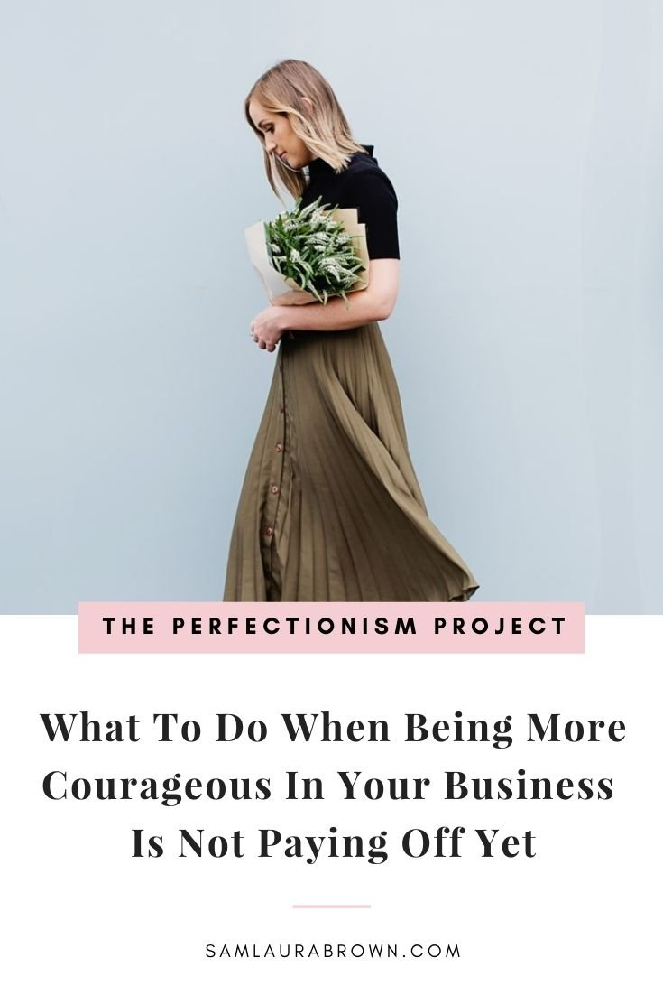 Are you being courageous in your business but you don't seem to be getting the results you want? Tune into today's episode to learn why being more courageous in your business may not yet be paying off and how to change it.