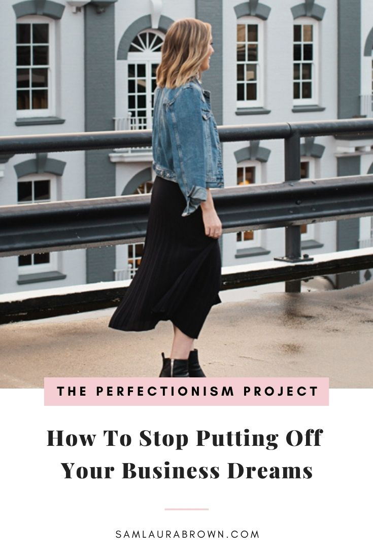 Is there something you want to do but you haven't started yet? Maybe you're putting it off until the perfect time to start. I'm sharing how I stopped putting off my dream of building a business and how you can do the same - even if your legs are trembling!