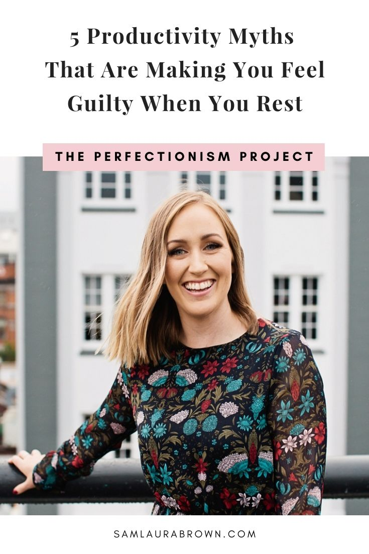 If you feel guilty when you rest because you're afraid you're not being productive enough, this episode is for you. Today I'm sharing five productivity myths that are making you feel guilty when you rest and what you can focus on instead.