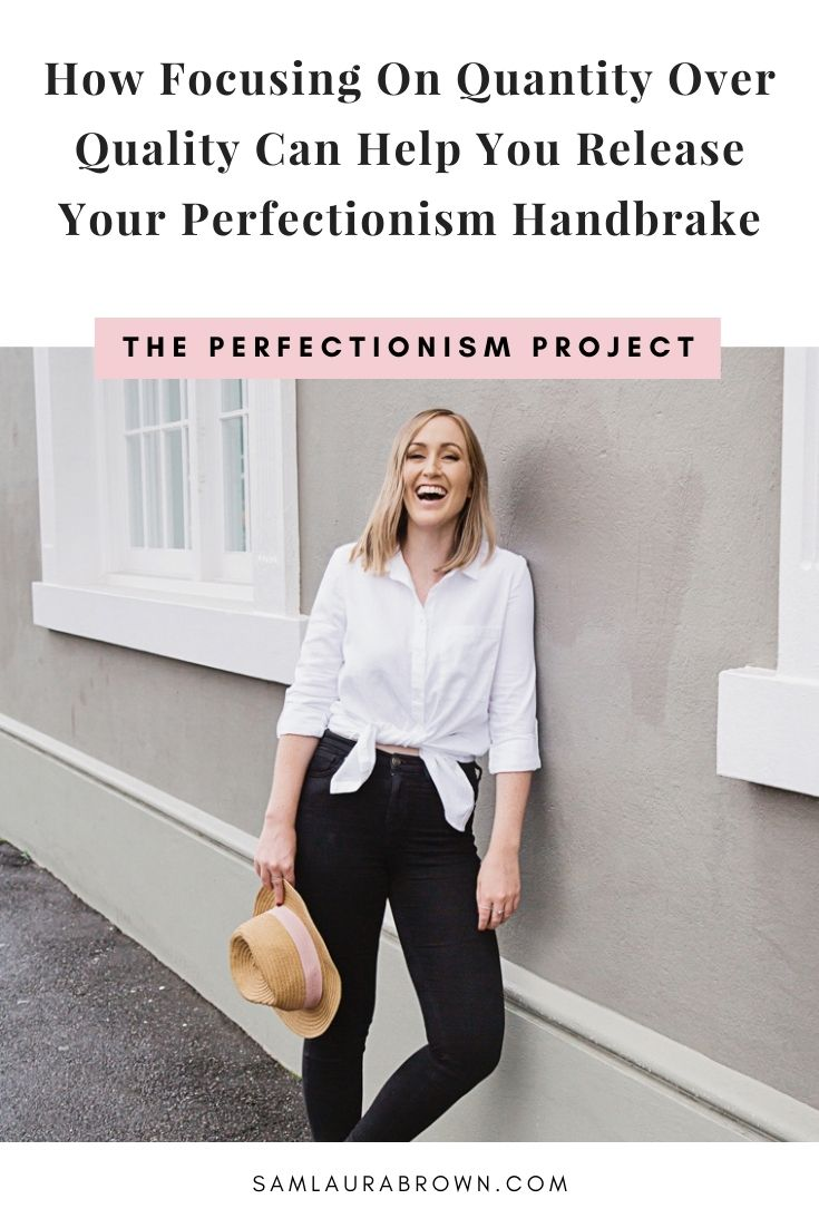 Yes, you read the title right. In today's episode I'm sharing how focusing on quantity over quality can help you overcome perfectionism - even if it feels like you should do the opposite.