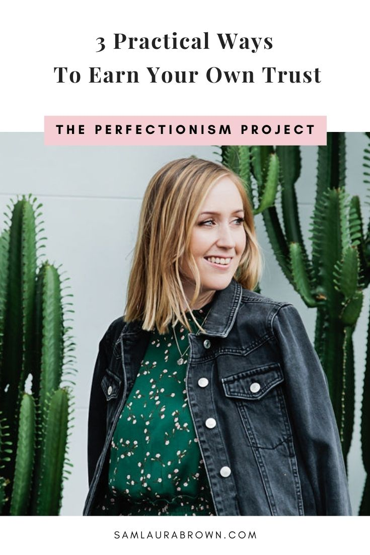 If you don't trust yourself to follow through, it's likely that your perfectionism handbrake is on. In order to earn your trust back, you'll need to learn to release that handbrake. Tune in for 3 practical ways to start earning your own trust again.