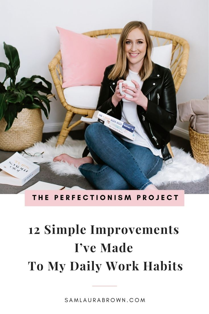When you listen to this episode I want you to think about your daily work habits. What can you implement from these 12 simple habits that helped me go full-time in my business, grow my team and impact thousands of perfectionists just like you?
